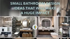 small bathroom design ideas that will make a impact