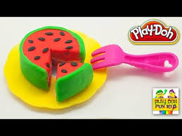 How To Make Play Doh Watermelon Cake Art And Craft Modelling Clay Fun Cooking For Kids