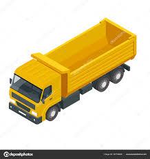 Isometric A Dump Truck, Dumper, Tipper Truck Isolated On White ...