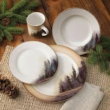 Rustic Wildlife Dinnerware Sets With Moose Bear Designs