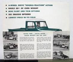 100 Easy Truck Sales 1960 Willys Jeep Pickup Mailer Specifications