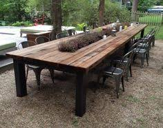 Reclaimed Wood Outdoor Furniture Rustic Tables Intended For Wooden Patio Dining Table Prepare