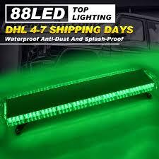 100 Light Bars For Tow Trucks 47 88 LED Bar Emergency Warning Beacon Truck Strobe Green