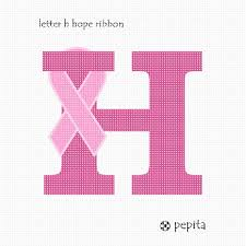 Needlepoint Canvas Letter H Hope Ribbon