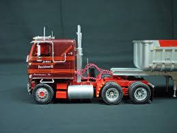 Built 1/25 Scale Model Semi-truck AMT GMC Astro 95 And Ertl Dump ...