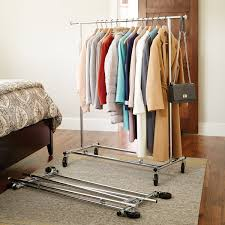 Decorative Metal Garment Rack by Collapsible Clothes Hanging Rack Clothes Drying Rack Premium