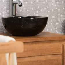 vasque à poser en marbre barcelone ronde d 30 cm