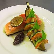 cuisine emulsion semi cooked salmon petit vegetables honey lime emulsion recipe agfg