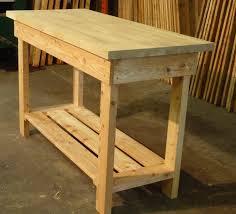 workbench solid oak top