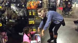 Disney Store Scares Up An by Baby And Get Scare Inside A Halloween Store Youtube
