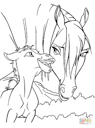 Click The Rain Horse Coloring Pages