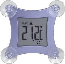 tfa dostmann poco digitales fensterthermometer befestigbar durch saugnäpfe wetterfest temperaturtendenz