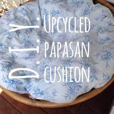 Papasan Chair Cushion Cover by Chair Diy The Happy Housie How Papasan Chair Cushion Cover To
