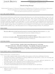 Healthcare Project Manager Resume Objective Examples Manufacturing Skills For Senior