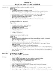 Related Job Titles Logistics Coordinator Resume Sample