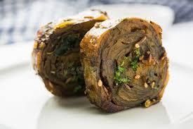 cuisine alu indian food patra or paatra or alu vadi stock photo image of
