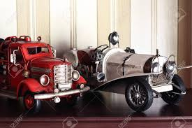 100 Fire Truck Wallpaper Car Plastic Model Of An Old Classic Red And White