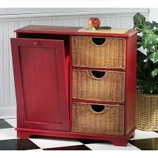 Nice Kitchen Trash Can Storage Cabinet Pull Out Garbage Recycling Bins Bin