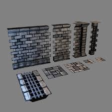 3d Dungeon Tiles Uk set modular dungeons walls max 3d biz pinterest google