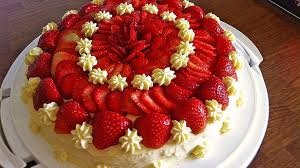 erdbeer kuchen mit vanillecreme