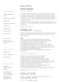 Sample Design Resume Interior Designer Template Templates Rapid Printable