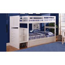 discovery world furniture white staircase mission bunk bed twin