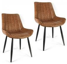 esszimmerstühle vintage esszimmer stühle braun set 2 tlg