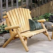 Rustic Outdoor Furniture Log & Wood Patio Furniture