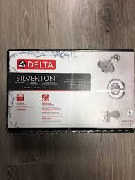 Delta Silverton Faucet Brushed Nickel by Delta Silverton 144713 Monitor 14 Series Tub U0026 Shower With Chrome