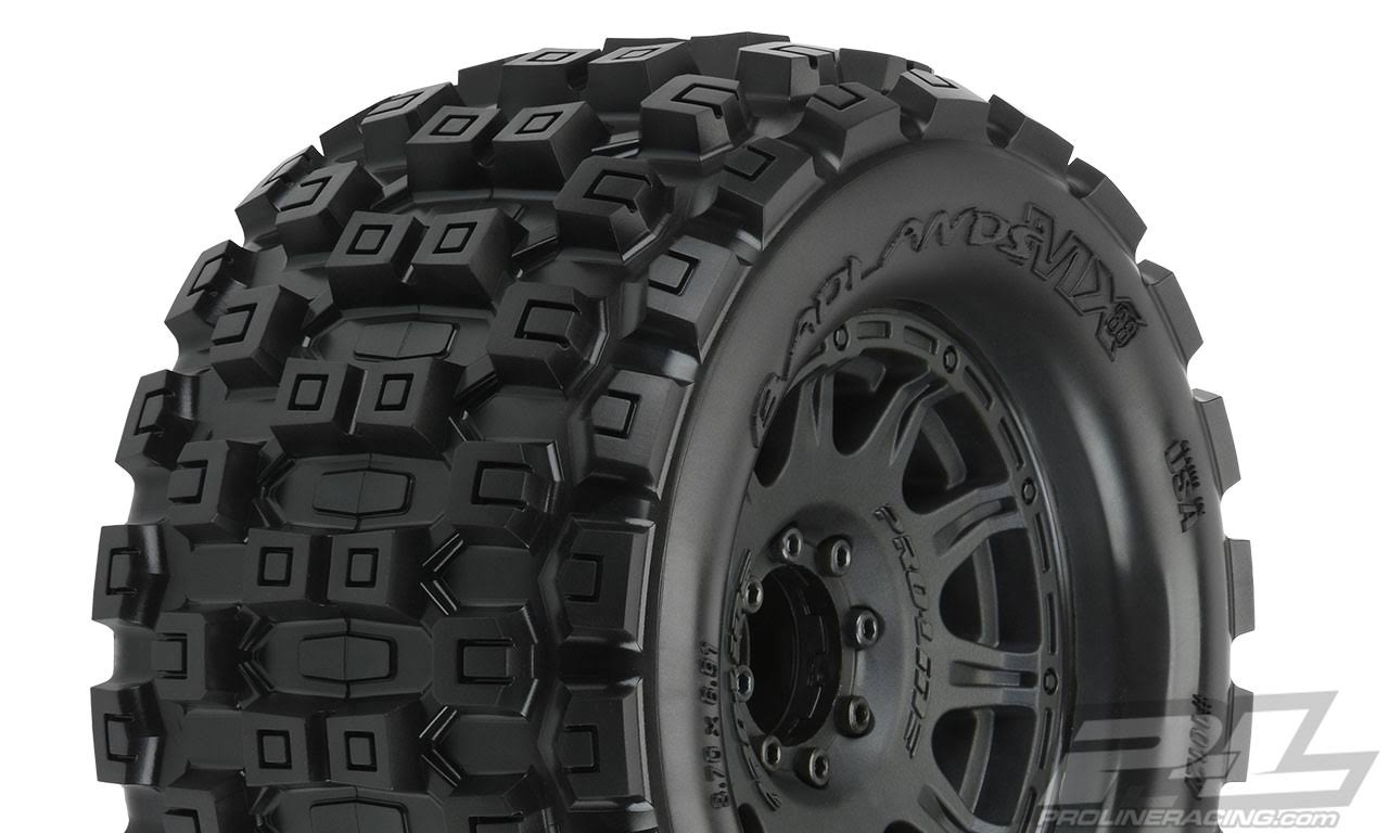 Proline Racing PRO1012710 3.8 in. Badlands MX38 All Terrain Tires Black
