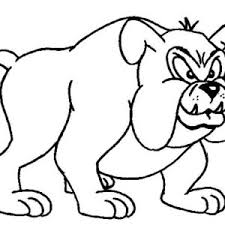 Terrifying Bull Dog Coloring Page