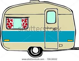 Vector Images Illustrations And Cliparts Retro Happy Hippie Vintage Travel Trailer Camper Illustration