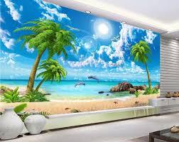 tapete landschaft für wände nach 3d hintergrund tapeten meer ansicht coconut strand landschaft 3d wandmalereien tapete für badezimmer
