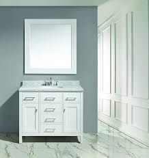 Single Sink Vanity With Makeup Table by Design Element Dec076f London 42