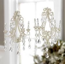 Chandelier Ornaments RAZ Winter Lace Christmas Tree