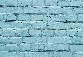Download Wall With Blue Brick Paint Pattern Stock Photo