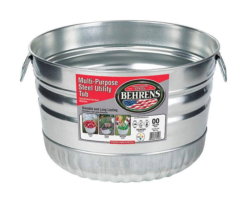 Behrens 32S Basket Round Galvanized Steel Tub