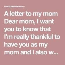 The 25 best Letter to my mom ideas on Pinterest