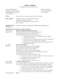 Best Teacher Resumes Objective Resume Examples Sample Special Education