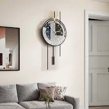 metall deer marmoriert stille große wanduhr moderne design wohnzimmer home dekoration wand dekor für zimmer 2020 dekorative uhr