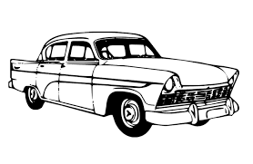 Free Vintage Of Car Coloring Pages