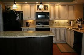 kitchen brown cabinets white appliances quicua com