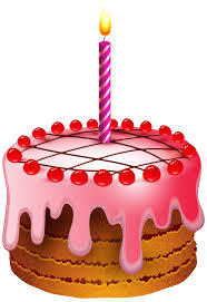 Red Birthday Cake Clipart ClipartXtras