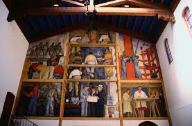 Coit Tower Murals Diego Rivera by All About The Diego Rivera Murals Of San Francisco