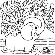 Baby Elephant Coloring Pages AZ