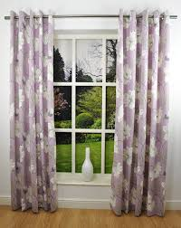 Thermal Lined Curtains Australia by Delphine Floral Printed Eyelet Top Readymade Lined Curtains