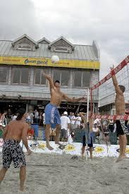 beach volleyball tournament ocean deck