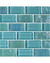 amazing deal on 12 x12 darya glass tile turquoise