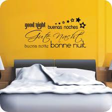 wandtattoo gute nacht mehrsprachig