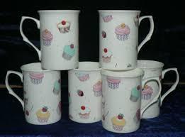 mugs set of 6 gift boxed 10oz china mugs cupcake design